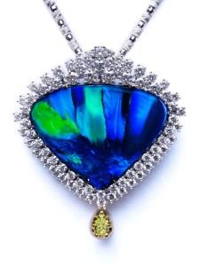 Black Opal Pendant AT197