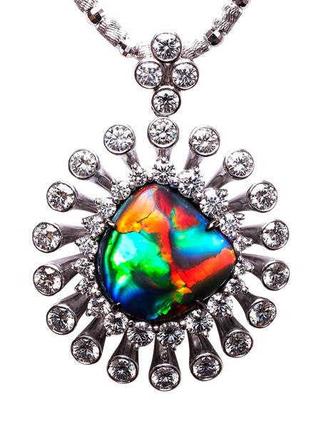 Black Opal Pendant