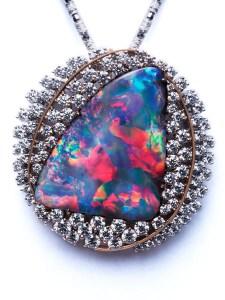 Boulder Opal Brooch / Pendant CFBC01