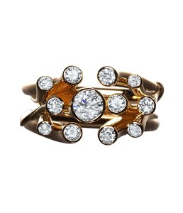 Sea Anemone Diamond Ring