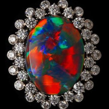 Rare Black Opal Ring