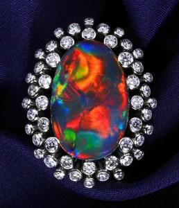 Black Opal Ring AT145