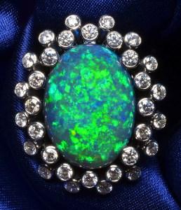 Black Opal Ring TR0004