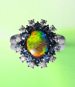Black Opal Ring AT175