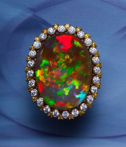 Black Opal Ring TR0009