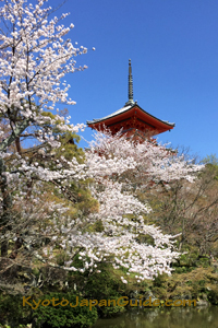 Red pagoda at Kiyomizudera Temple 041