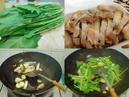 Hong Kong Kailan with Roasted Pork
