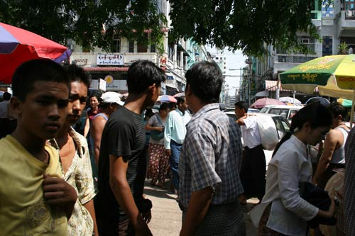 Yangon city, Maynmar, busy day time