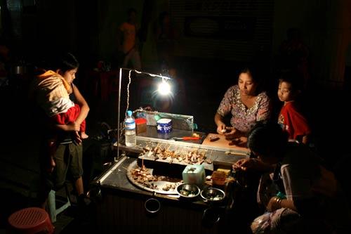 Yangon city, Maynmar, night market