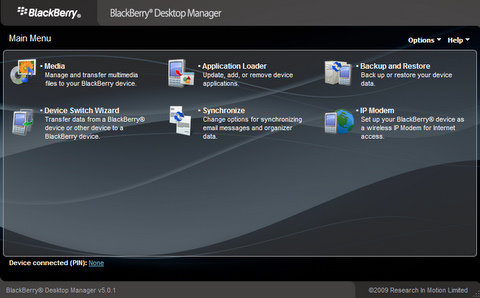 blackberry desktop manager 5