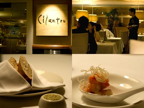 Truffle butter, Cilantro Restaurant at Micasa Hotel