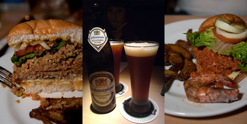 Cristang pork burger, Weihenstephaner beer
