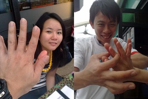 Palm & Finger experiement