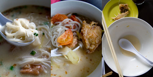 fish head noodle with fat vermicelli