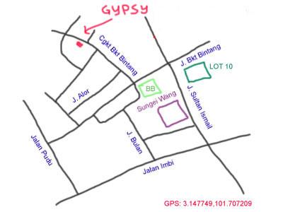 map to Changkat Bukit Bintang