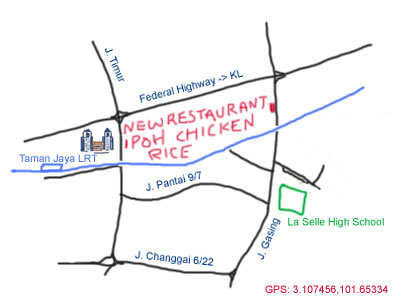 map to ipoh chicken rice (since 1977)
