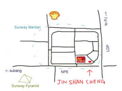 map to Steamboat at Jin Shan Cheng