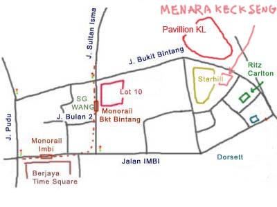 map to Menara Keck Seng