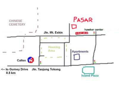 map to Mt Eskerin wet market