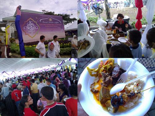 hari raya open house at PM najib razak's