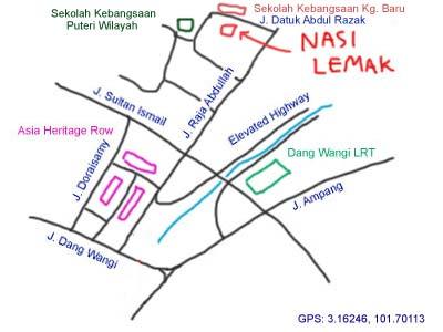 Nasi Lemak CT Garden at Kampung Baru