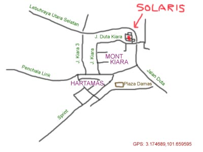 map to Solaris Mont Kiara