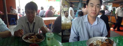 KY and Chew at Warong Kak Fauziah