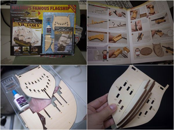 the first issue, with DVD, sand papper, glue, and first set of kits