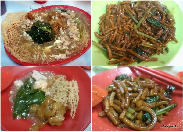 yin yeong and fried hokkien mee