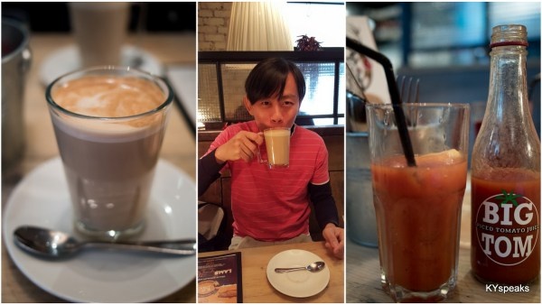 had a glass of latte to start the day