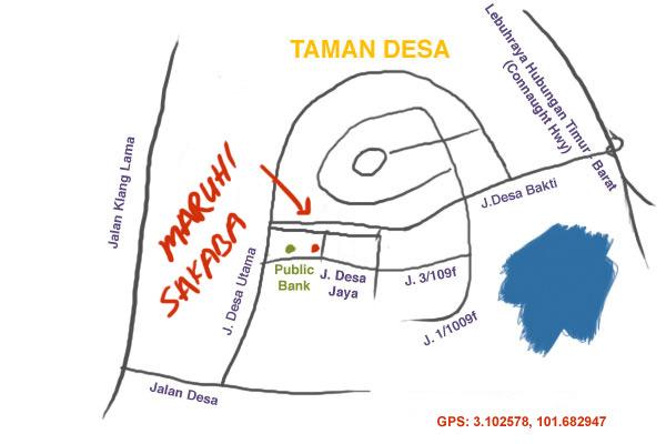 map to Maruhi Sakaba at Taman Desa