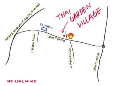 map to Thai Garden Village, Kepong