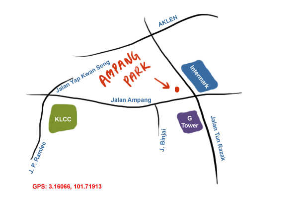 map to Ampang Park