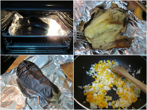 the key is to roast the eggplant first