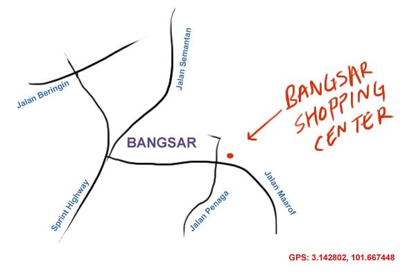 map to Bangsar Shopping Center