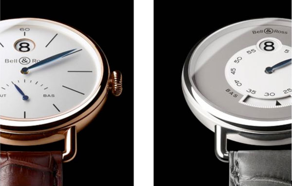 WW1 Heure Sautante Pink Gold and Platinum