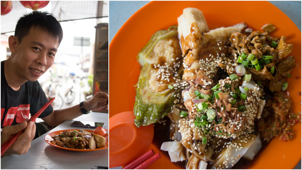 wild boar curry with chee cheong fun and yong tau foo