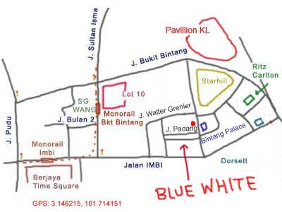 map to Blue White Teow Chew Porridge Kopitiam