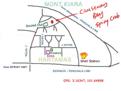 map to Causeway Bay Spicy Crab at Hartamas