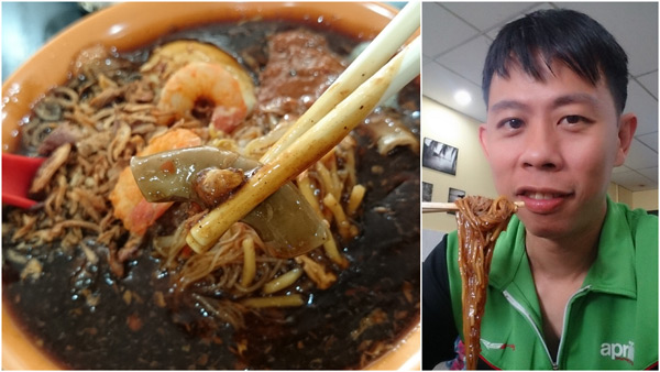 well satisfied with my breakfast of lor mee