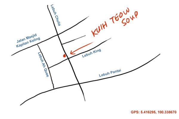 map to Chulia Street, Penang