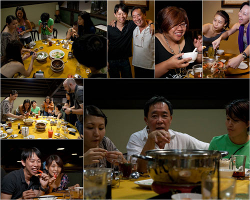 patrick teoh and the food bloggers at damansara village