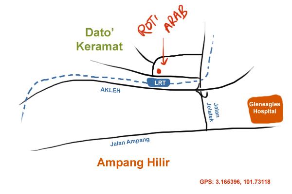 map to dato' keramat wet market