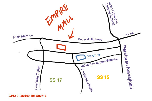 Empire Mall map