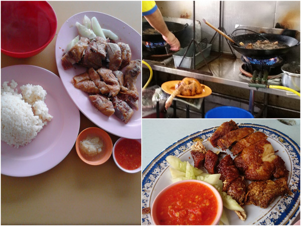 deep fried chicken is delicious, and don't forget to order the Penang loh bak
