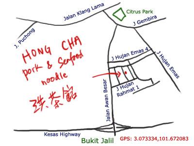 map to Hong Cha at Old Klang