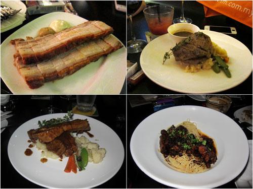 roast pork, tenderloin steak, pork ribs, pasta with roast pork