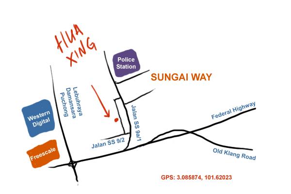 map to Hua Xing at Sungai Way