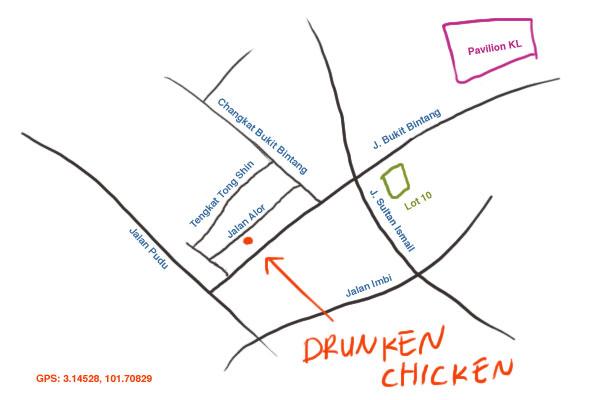map to Jalan Alor