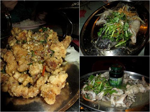 mantis prawn, steamed pak sou kong, steamed frog